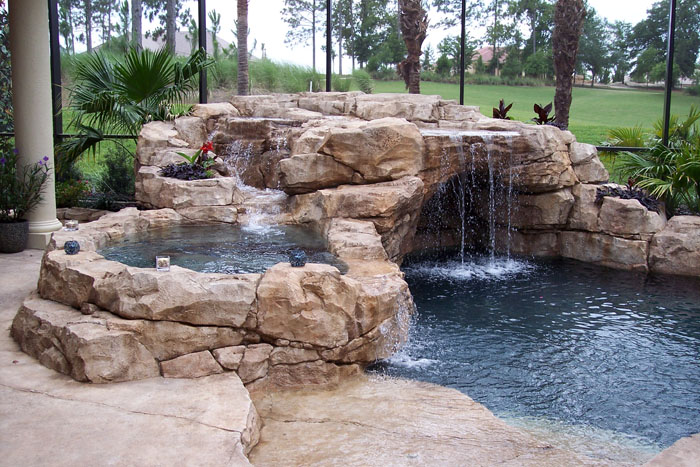 37=Rock Grotto and Secondary Cascading Waterfall into Rock Spa